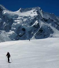 Touring up the Tasman Glacier
