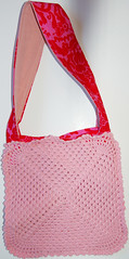 Pink table cloth bag