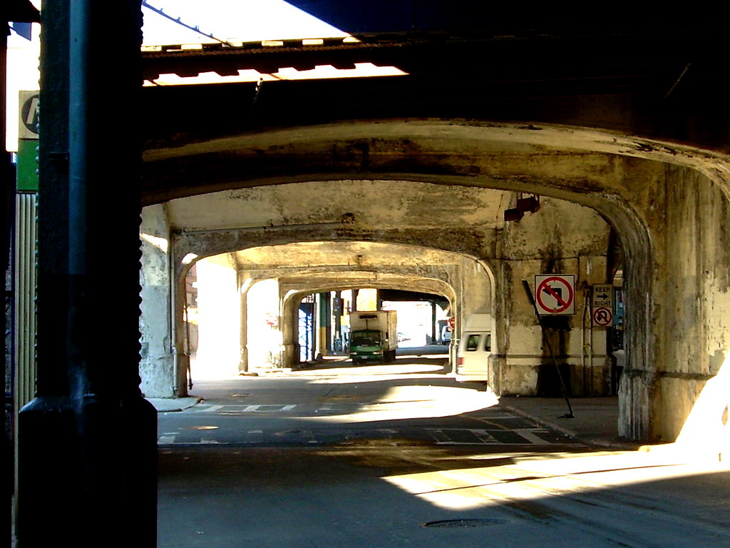 under the elevated, brighton beach