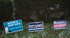 Our neighbor's political placards