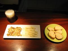 Idiazabal con nueces y cerveza
