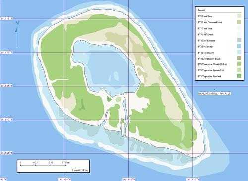 Tehuata Atoll - Marplot Map (1-15,125)