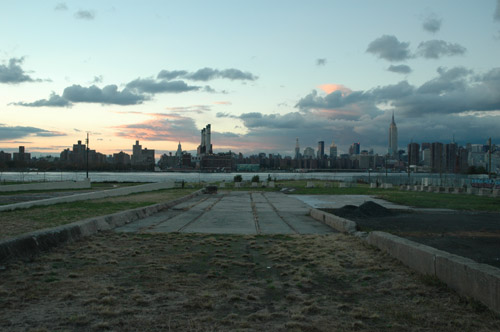 New Park at Sunset