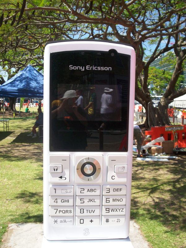 Sponsors display outside the Gabba - 3 Mobile/Sony Ericsson - The Ashes 2006-7 - First Test - Atmosphere in town, outside the Gabba, and watching the game