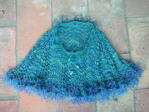 Peacock kid's poncho