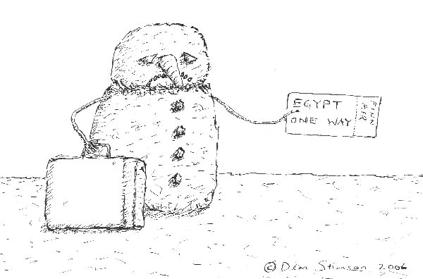Mr Lumiukoo Hates Christmas: the snowman suicides - one way ticket to egypt