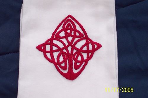 Hand-embroidered Tea Towel by R. Murphy