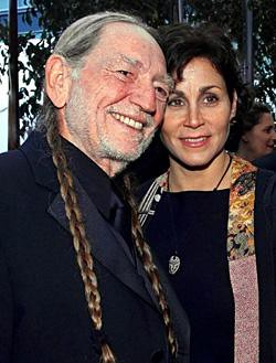 Willie Nelson with beautiful, Wife Annie D