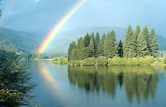 Rainbow over Lake Siskiyou photo by Romair