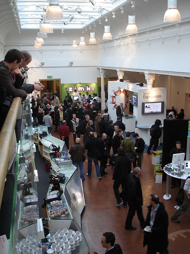 The Main Foyer of the Brighton Dome Theatre full of people attending FOTB