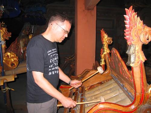 Ubud, Bali: Bamboo gamelan