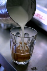 Dtm pouring a latte (by Abstract Gourmet)
