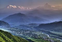 Annapurna Vista from Sarangkot, Nepal Himalaya Mountain Sunrise photo by Peter Akkermans