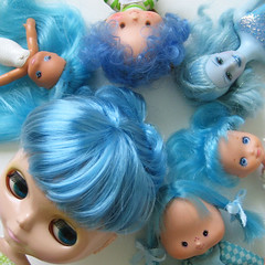 blue hair photo by merwing✿little dear