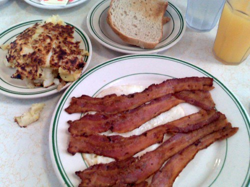 Bacon and eggs from the Pantry