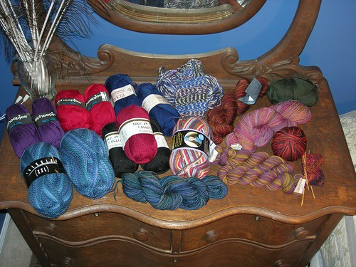 Sock yarn stash, 10/11