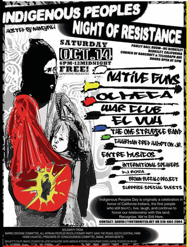 Indigenous Peoples Night of Resistance 10/14 UCB