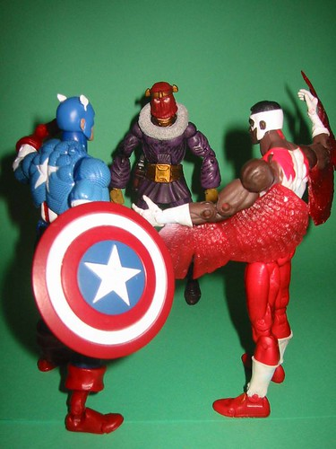 Captain America and Falcon vs. Baron Zemo