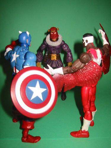 Captain America and Falcon vs. Baron Zemo