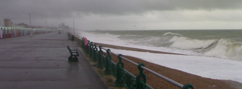 Stormy high tides at Brighton