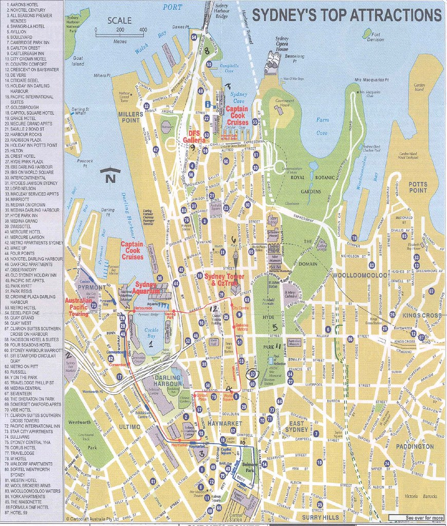 Sydney Travel Map