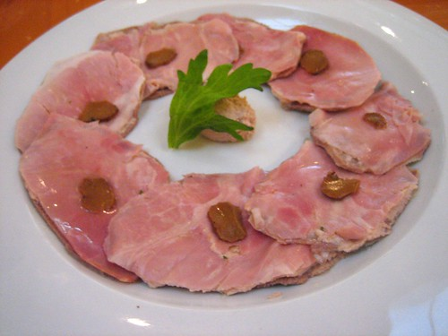 'In Bella Vista' Prosciutto Cotto w- Veal Tongue and Truffle Butter