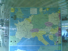 distored map of Europe