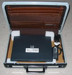 Laptop in Briefcase