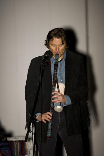 Playing an Anasazi flute