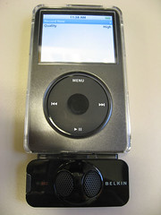 Belkin TuneTalk Stereo Recorder on a 5G ipod