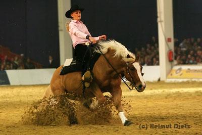 Kim Obenhuas Deutsche Meisterin Reining Junior 2006