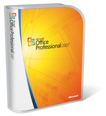 Microsoft Office Professional 2007 package