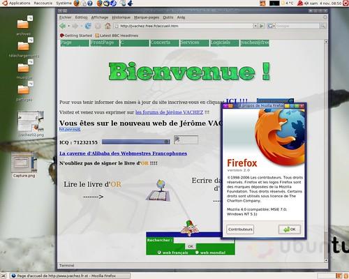 Firefox se faisant passer pour IE7...