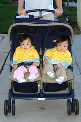 2nd stroller ride - a big success (no crying)