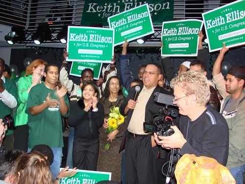 Ellison @ Victory Party