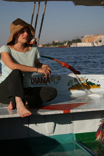 Girlie on a boat