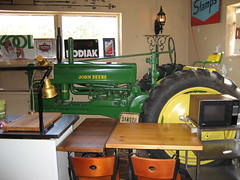Every restaurant needs a John Deere tractor