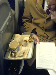 Tea on a train.
