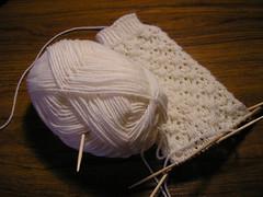 Snowflake sock-in-progress