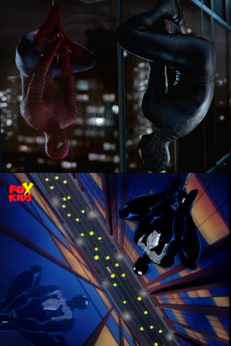 SpiderMan hanging Comparison