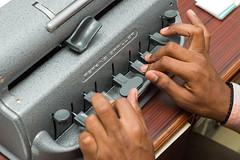 The 9-key braille machine