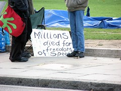 Protest in Parliament Square, London