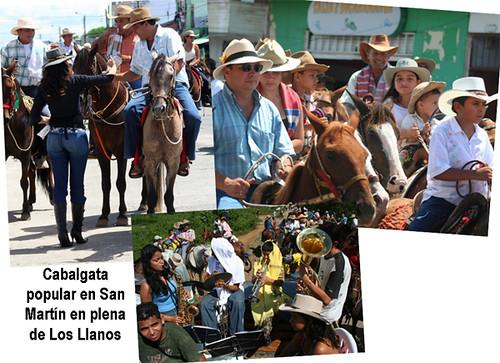 cabalgata popular en San Martín, en el departamento del Meta