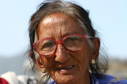 Nepali woman in Kathmandu.