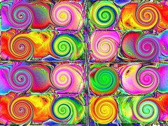 Colourful spirals