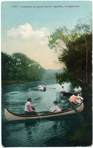 Postcard: Canoeing On Black River, Seattle