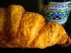 Croissant and Crème de Marrons