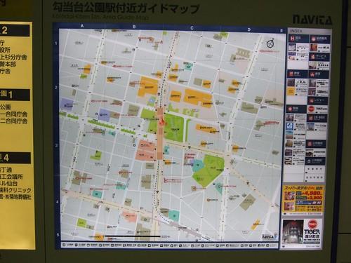 勾当台公園車站周邊地圖