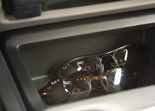 Double-Reflective Self-Portraits from Sunglasses in my Car