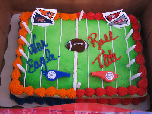 Iron Bowl Birthday Cake